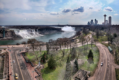 "If you're interested in finding this ""secret"" viewpoint, I provide a few clues as to its location in Niagara Skyline. It's a pretty cool spot to  find, even if you're not looking to photograph the area. It's definitely a different view compared to what most visitors to the falls get to see. Once up there I decided I had to try to capture the whole scene. So, I framed up four different shots and bracketed each for HDR. I wasn't positive at the time how I'd go about stitching them together.  It turned out it was pretty involved...  Want to read more on making HDR panoramas? CLICK HERE   If you're interested in my HDR techniques, visit my  FREE HDR TUTORIAL."