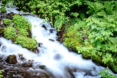 Lower Wahkeena Falls The lower part of Oregon's Wahkeena Falls, east of Portland in the Columbia River Gorge.
