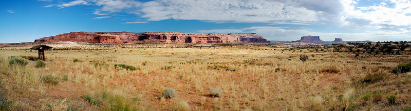 Big Butte on the way to<br /> Canyonlands National Park