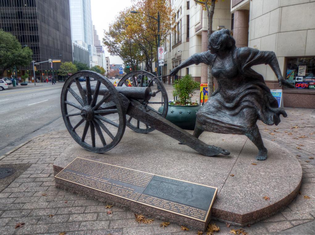 Angelina Eberly statue austin texas
