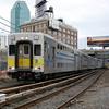 C3 Cab Car leading its train into Long Island City.