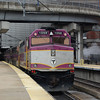 A Massachusetts Bay Transit Authority F40PH-2C at Boston South Station.