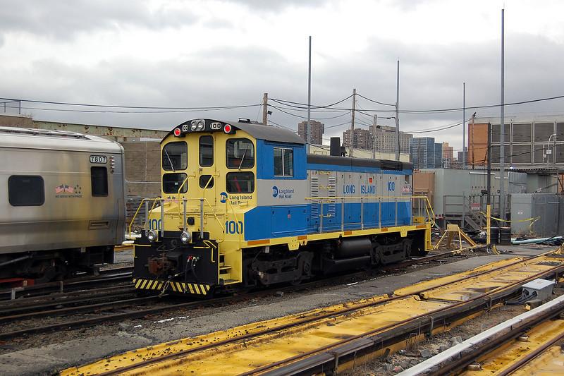 One of Long Island Railroads EMD SW1001 at Long Island City, New York.