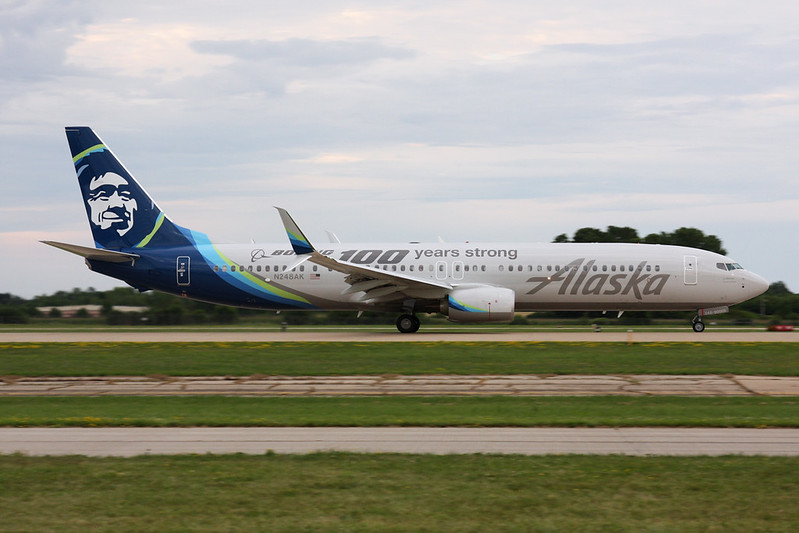 "N248AK Boeing 737-990 c/n 62469 Oshkosh/KOSH/OSH 27-07-16 ""Boeing 100 years strong"""