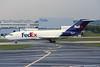 """N144FE Boeing 727-21C """"Federal Express"""" c/n 19137 Paris-Charles de Gaulle/LFPG/CDG 12-06-95 (35mm slide)"""