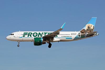 """N235FR Airbus A320-214 c/n 7272 Las Vegas-McCarran/KLAS/LAS 24-01-18 """"Pike the Otter"""""""