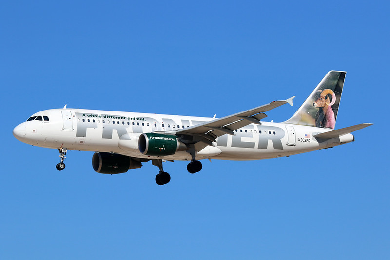 "N202FR Airbus A320-214 c/n 3431 Las Vegas-McCarran/KLAS/LAS 05-02-18 ""Colorado the Bighorn"""