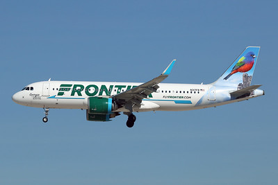 """N317FR Airbus A320-251N c/n 7835 Las Vegas-McCarran/KLAS/LAS 05-02-18 """"Georgia the painted Bunting"""""""