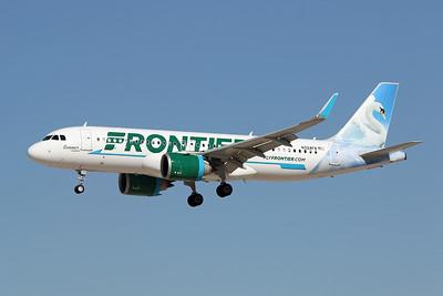 """N324FR Airbus A320-251N c/n 7967 Las Vegas-McCarran/KLAS/LAS 24-01-18 """"Summer the Swan"""""""