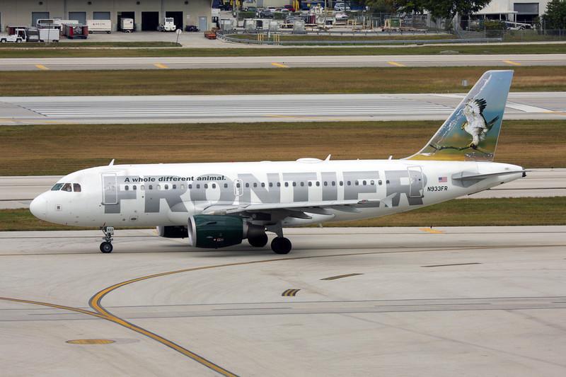 "N933FR Airbus A319-111 c/n 2260 Fort Lauderdale-International/KFLL/FLL 06-12-08 ""Hawk"""