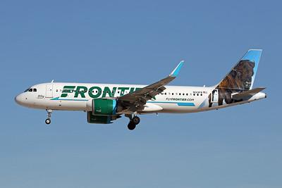 """N313FR Airbus A320-251N c/n 7727 Las Vegas-McCarran/KLAS/LAS 24-01-18 """"Wiley the Bison"""""""