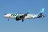"""N238FR Airbus A320-214 c/n 7458 Las Vegas-McCarran/KLAS/LAS 05-02-18 """"Hugh the Manatee"""""""