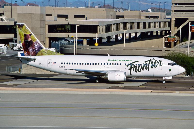 """N313FL Boeing 737-3L9 c/n 26442 Phoenix-Sky Harbor/KPHX/PHX 12-03-04 """"Black Bear"""" (35mm slide)"""