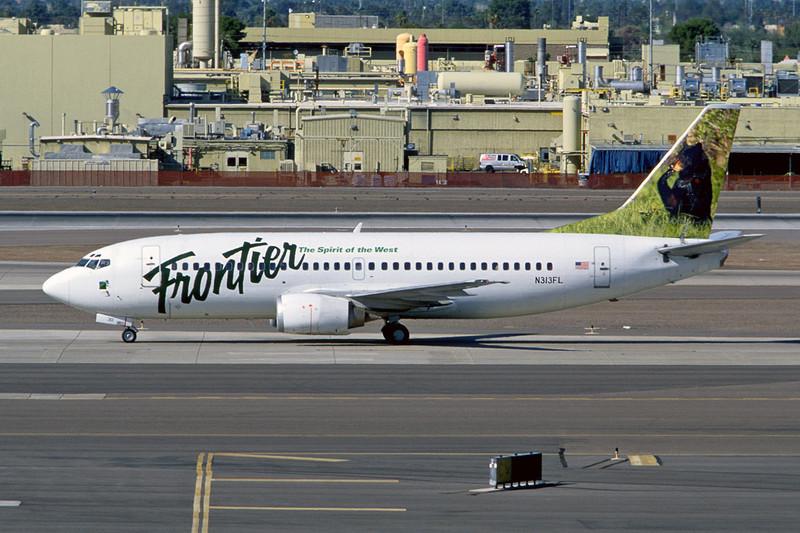 """N313FL Boeing 737-3L9 c/n 26442 Phoenix-Sky Harbor/KPHX/PHX 12-03-04 """"Black Bear (35mm slide)"""