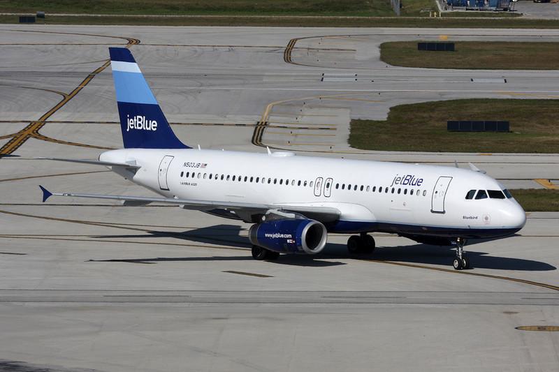 "N503JB Airbus A320-232 c/n 1123 Fort Lauderdale-international/KFLL/FLL 02-12-08 ""Stripes"""