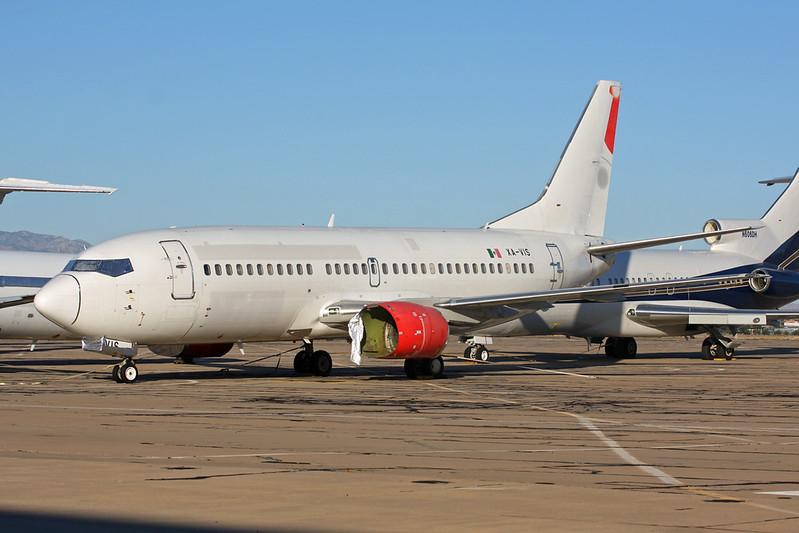 """N457AN (XA-VIS) Boeing 737-33A """"Leasing Company"""" c/n 27457 Tucson IAP/KTUS/TUS 14-11-16"""