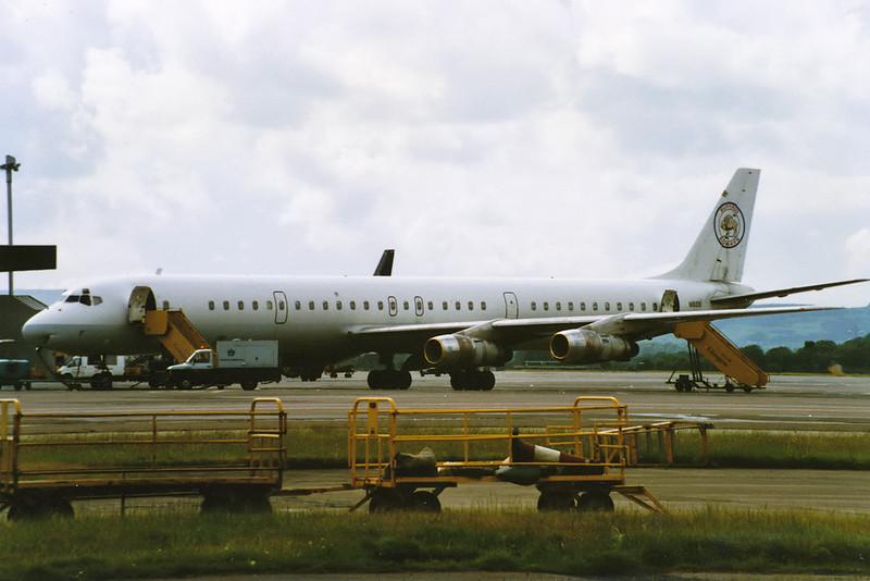 """N161DB Douglas DC-8-61 """"Buffalo Airways"""" c/n 45980 Glasgow/EGPF/GLA 16-07-93 (10x15 print)"""