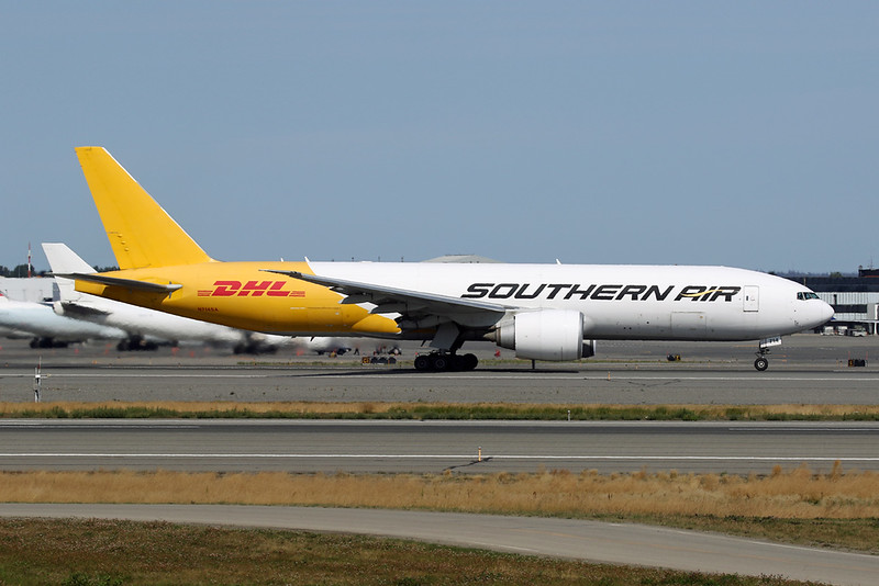 "N714SA Boeing 777-FZB ""Southern Air"" c/n 37988 Anchorage-International/PANC/ANC 08-08-19 ""DHL"""