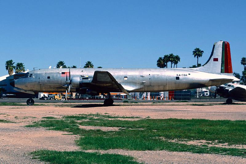 N48AW (XA-TDR) Douglas DC-6 C-118A c/n 44633 Mesa - Falcon Field/KFFZ/MSC 14-03-04 (35mm slide)
