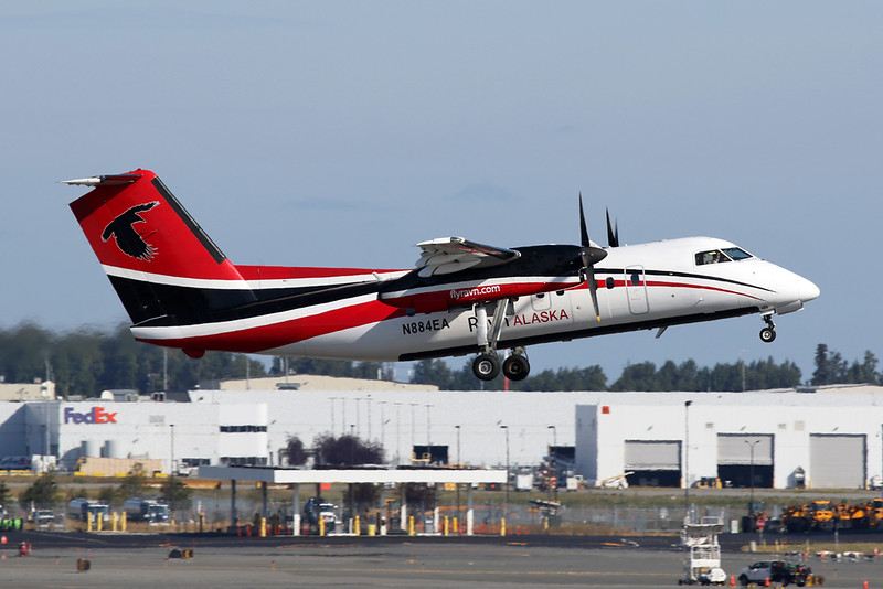 "N884EA de Havilland Canada DHC-8-102A ""Ravn Alaska"" c/n 387 Anchorage-International/PANC/ANC 06-08-19"