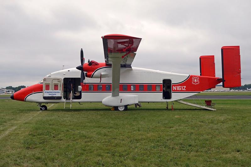 """N161Z Short SD-360 C-23B+ Sherpa """"USDA Forest Service"""" c/n SH3412 Oshkosh/KOSH/OSH 29-07-16"""