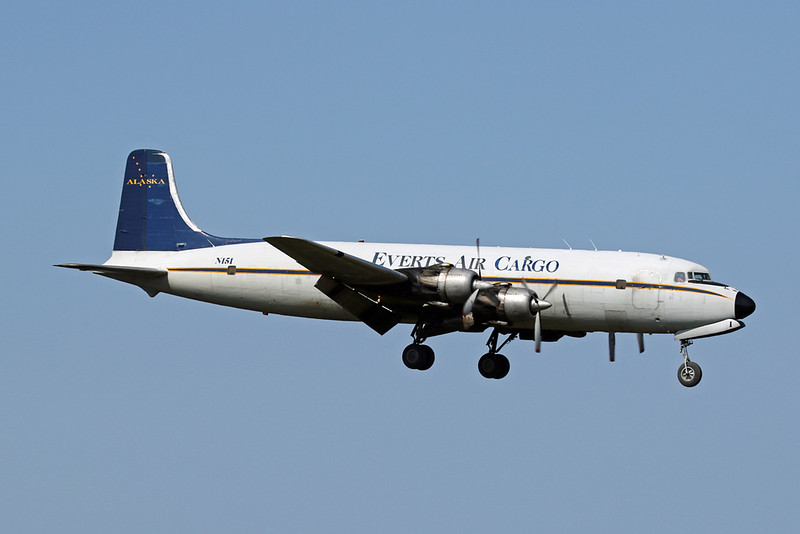 "N151 Douglas DC-6B ""Everts Air Cargo"" c/n 45496 Anchorage-International/PANC/ANC 09-08-19"