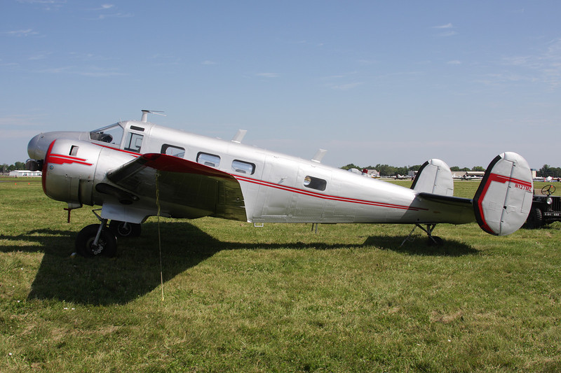 "N127ML Beech D.18S ""National Air Service"" c/n A-212 Oshkosh/KOSH/OSH 26-07-10"