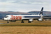 "N345JW Douglas DC-8-63F ""Arrow Air"" c/n 46042 Glasgow/EGPF/GLA 21-01-95 (10x15 print)"