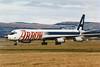 """N345JW Douglas DC-8-63F """"Arrow Air"""" c/n 46042 Glasgow/EGPF/GLA 21-01-95 (10x15 print)"""
