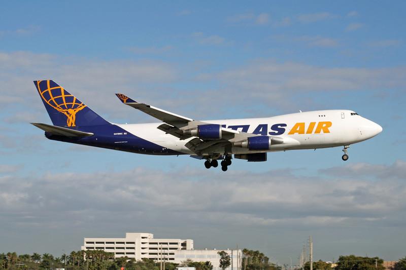 """N419MC Boeing 747-48EF """"Atlas Air"""" c/n 28367 Miami/KMIA/MIA 04-12-08"""