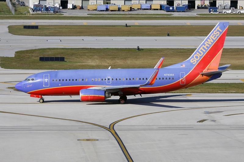 N793SA Boeing 737-7H4 c/n 27888 Fort Lauderdale-International/KFLL/FLL 02-12-08