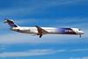 """N831NK Douglas MD-83 """"Spirit Airlines"""" c/n 49617 Las Vegas/KLAS/LAS 10-03-04 (35mm slide)"""