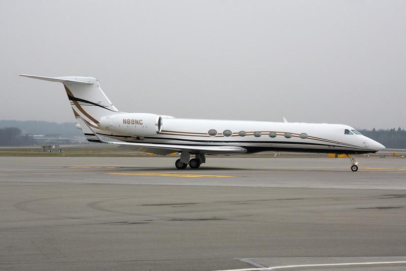 N89NC Gulfstream G550 c/n 5049 Zurich/LSZH/ZRH 26-01-12