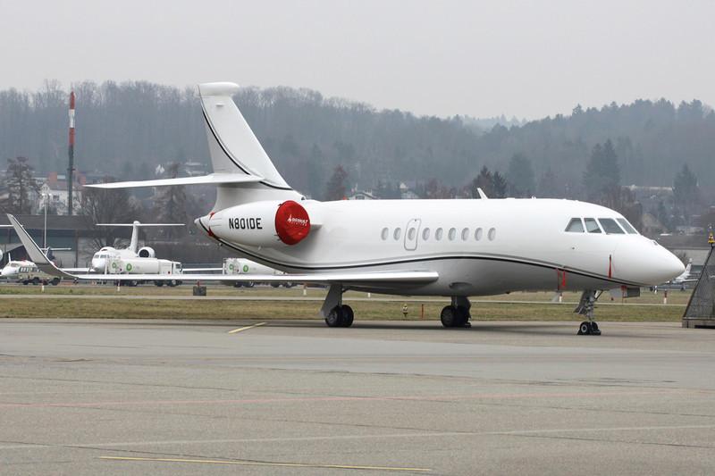 N801DE Dassault Falcon 2000LX c/n 203 Zurich/LSZH/ZRH 26-01-12