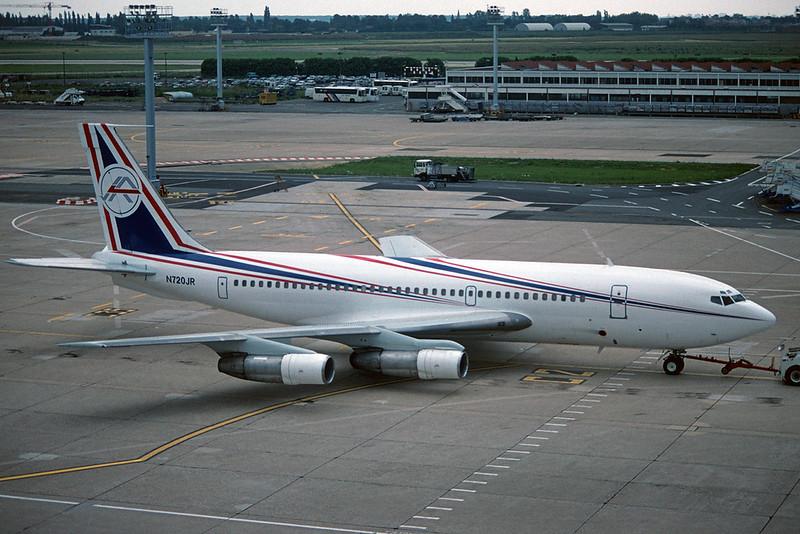 """N720JR Boeing 720-047B c/n 18451 Paris-Orly/LFPO/ORY 10-06-95 """"35mm slide"""""""