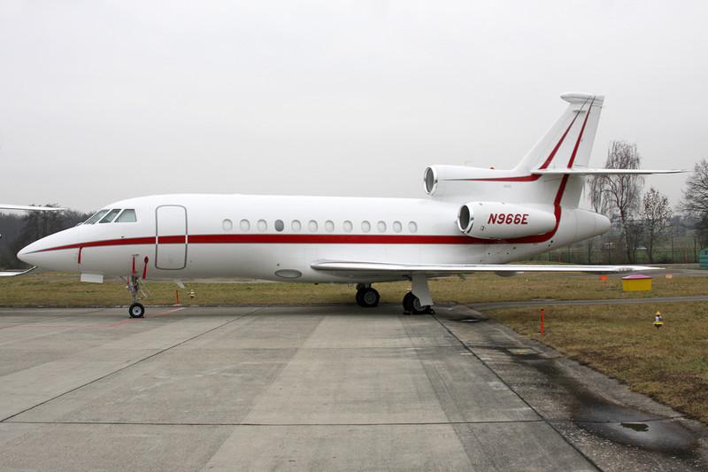 N966E Dassault Falcon 900EX EASy c/n 126 Zurich/LSZH/ZRH 26-01-12