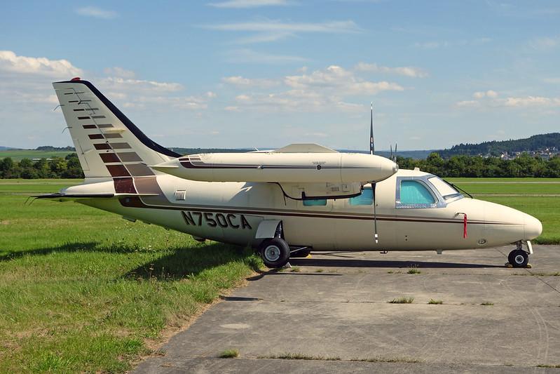 N750CA Mitsubishi Mu-2P Solitaire c/n 407SA Trier/EDRT 22-08-17