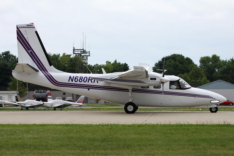N680RR Aero Commander Twin Commander 680FP c/n 1361 Oshkosh/KOSH/OSH 28-07-16