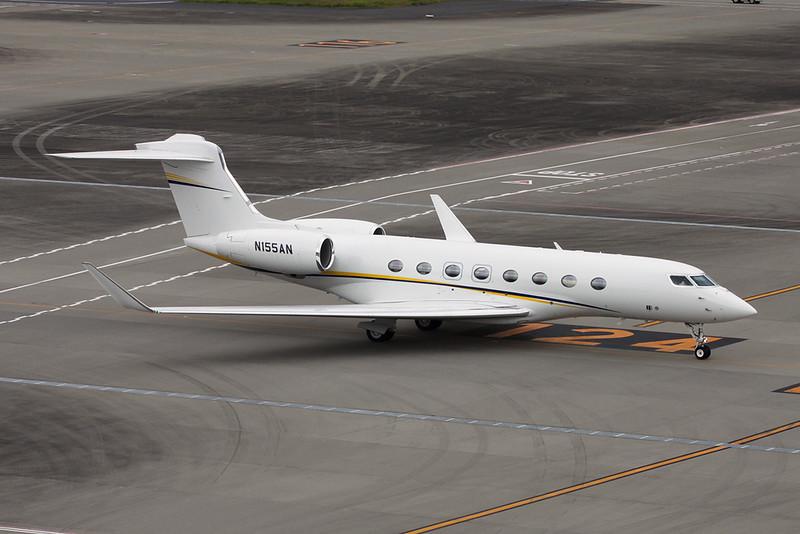 N155AN Gulfstream G650 c/n 6187 Tokyo-Haneda/RJTT/HND 20-10-17