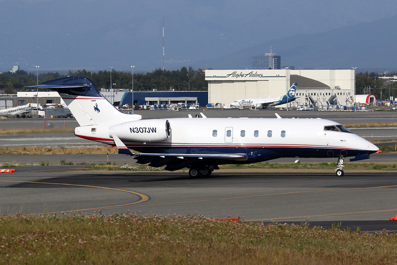 N307JW Bombardier Challenger 300 c/n 20093 Anchorage-International/PANC/ANC 10-08-19