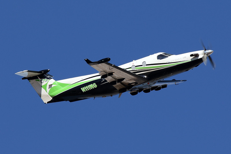 N111WG Pilatus PC-12-45 c/n 555 Phoenix-Sky Harbor/KPHX/PHX 28-01-18