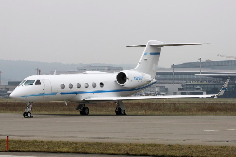 N303TP Gulfstream G4SP c/n 1411 Zurich/LSZH/ZRH 26-01-12