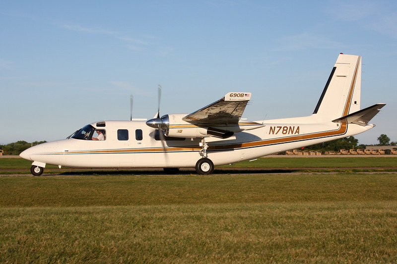 N78NA Aero Commander Turbo Commander 690B c/n 11401 Oshkosh/KOSH/OSH 29-07-13