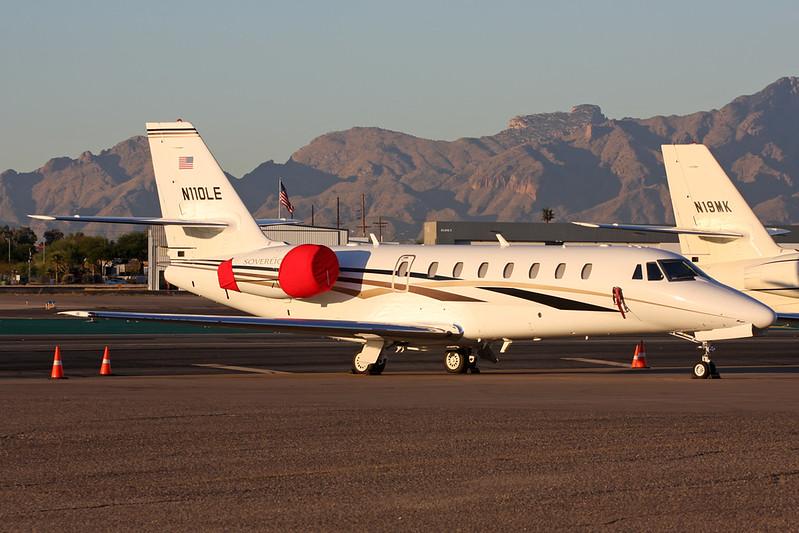 N110LE Cessna 680 Citation Sovereign c/n 680-0022 Tucson IAP/KTUS/TUS 14-11-16