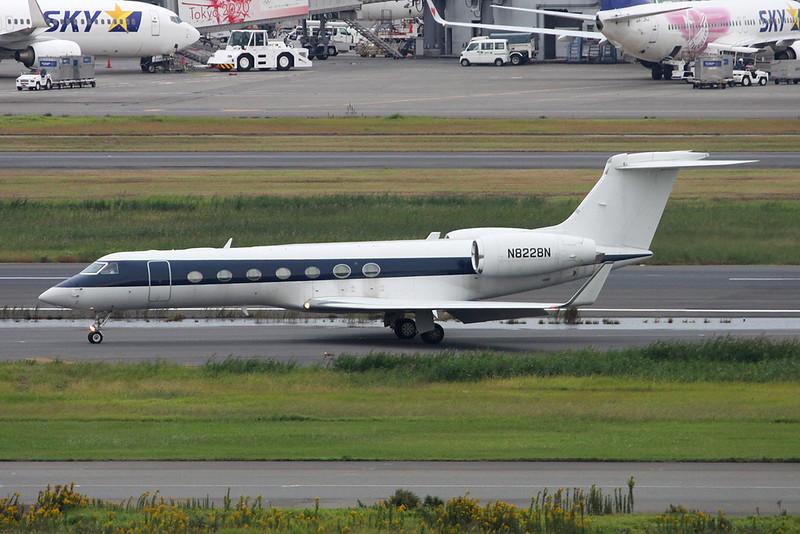N8228N Gulfstream G550 c/n 5057 Tokyo-Haneda/RJTT/HND 20-10-17