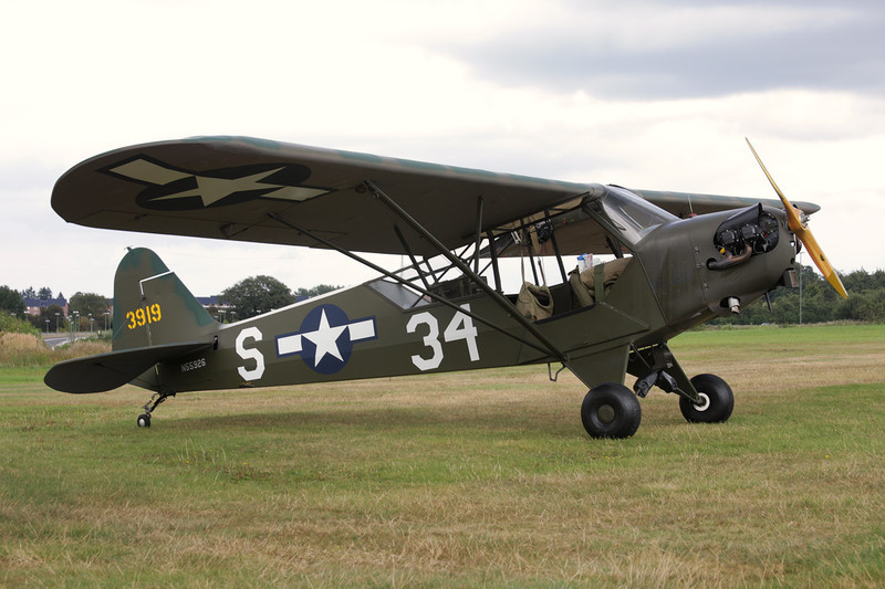 N55926 (3919/S-34) Piper L-4B Grasshopper c/n 9780 Verviers-Theux/Laboru/EBTX 04-09-09