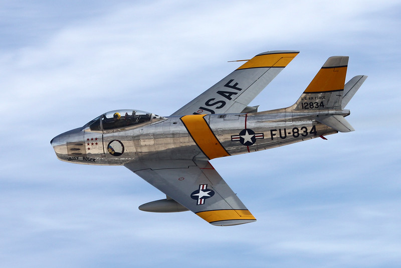 N186AM (12834/FU-834) North American F-86F Sabre c/n 191-708 Nellis/KLSV/LSV 12-11-16