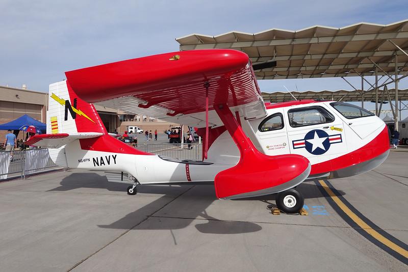 N64PN Republic Seebee RC-3 c/n 749 Nellis/KLSV/LSV 12-11-16