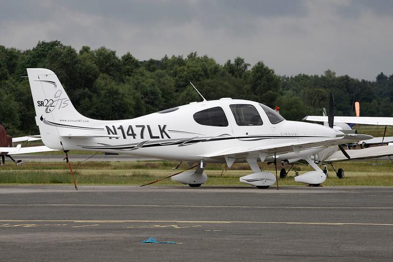 N147LK Cirrus SR-22 GTS c/n 1687 Blackbushe/EGLK/BBS 18-07-11