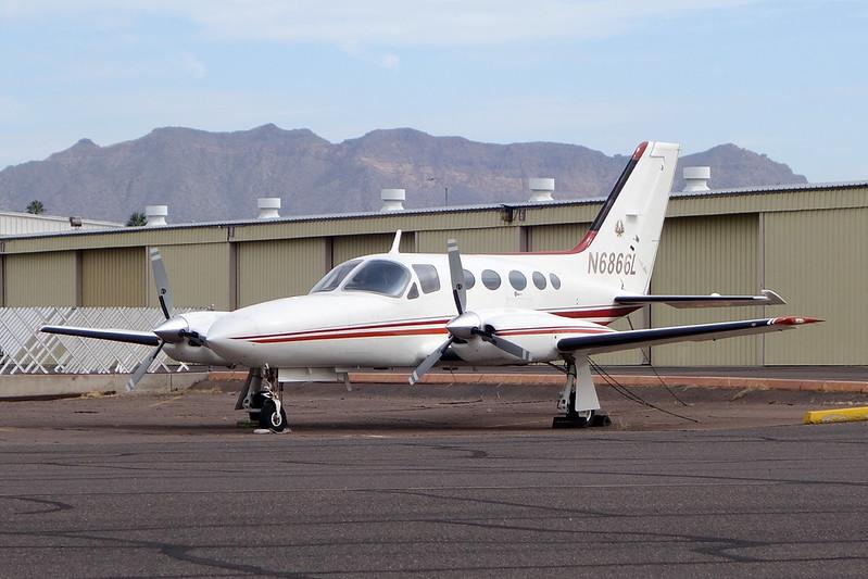 N6866L Cessna 421C Golden Eagle c/n 421C-1077 Mesa-Falcon Field/KFFZ/FFZ 16-11-16